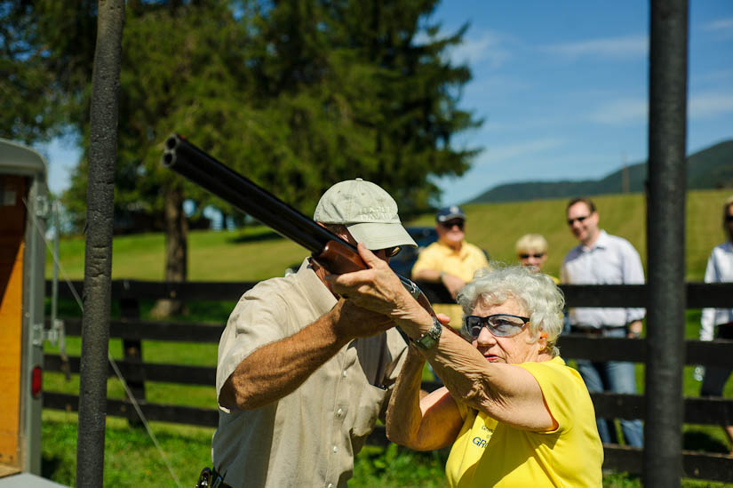 grandma shooting skeet at marriott ranch