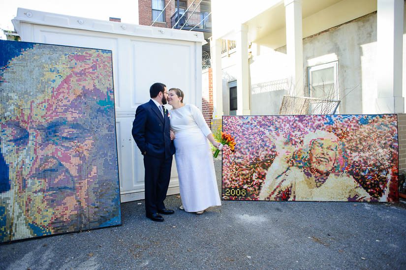 longview gallery wedding portraits in the alley