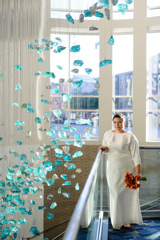 bridal portrait at dc convention center