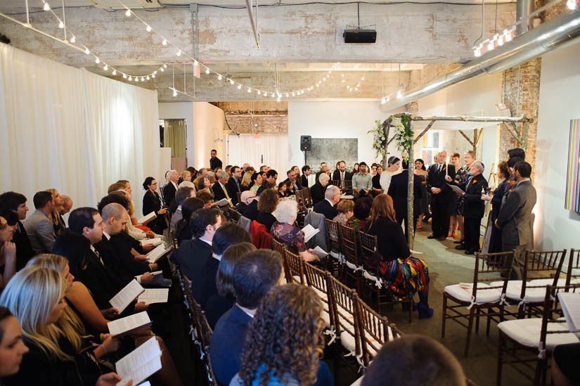 longview gallery wedding ceremony