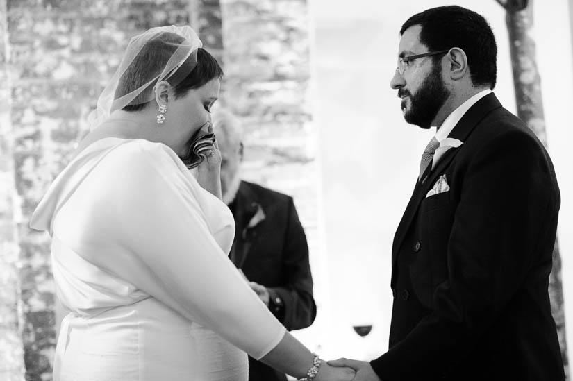 getting emotional during washington dc wedding ceremony