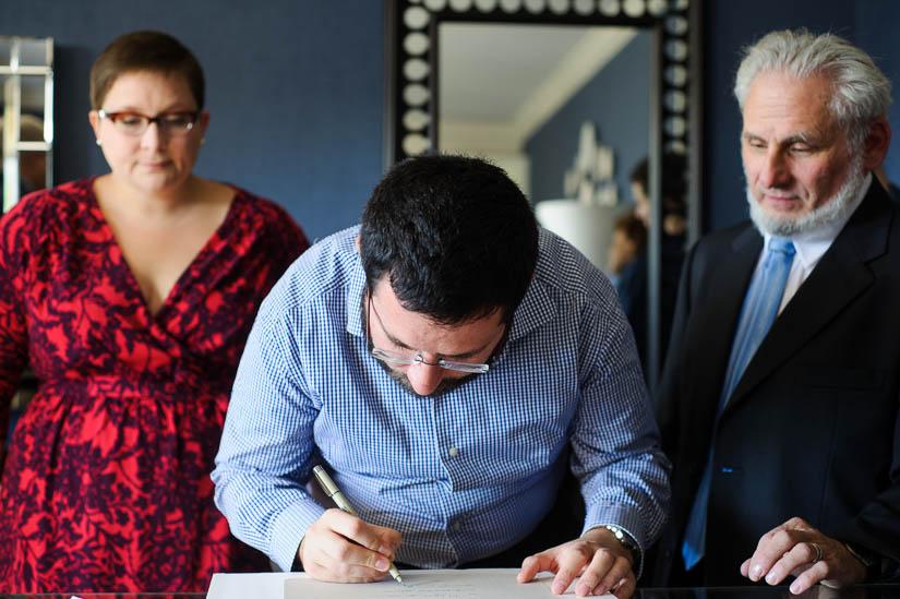 signing the ketubah in washington, dc