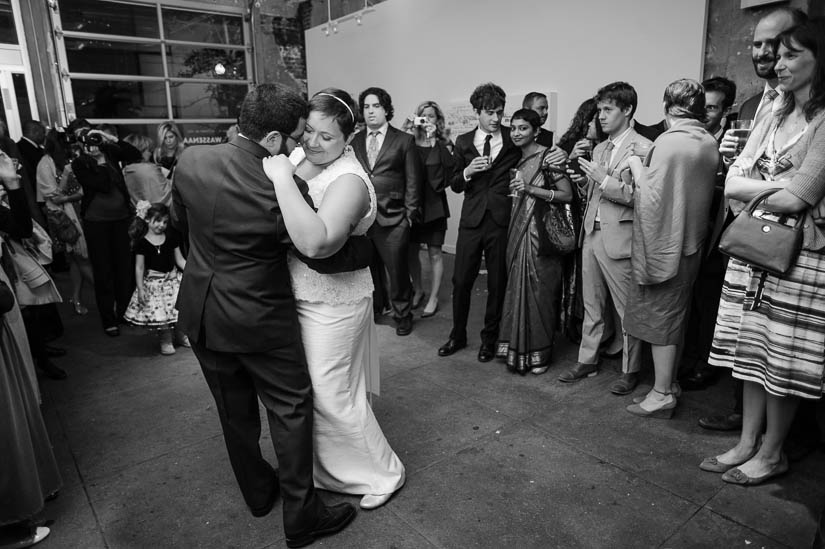 first dance at longview gallery wedding