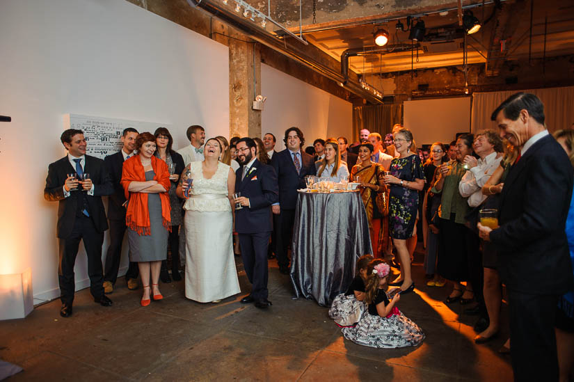 longview gallery wedding guests during speeches