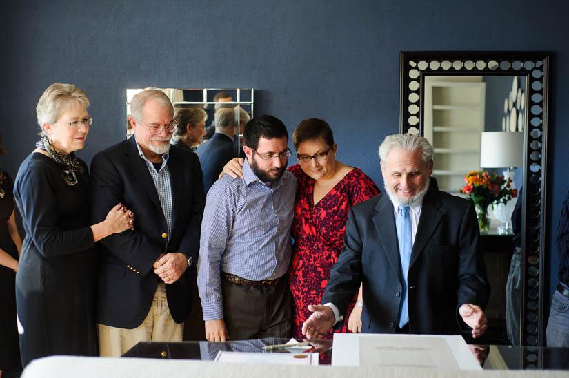 rabbi at the ketubah signing