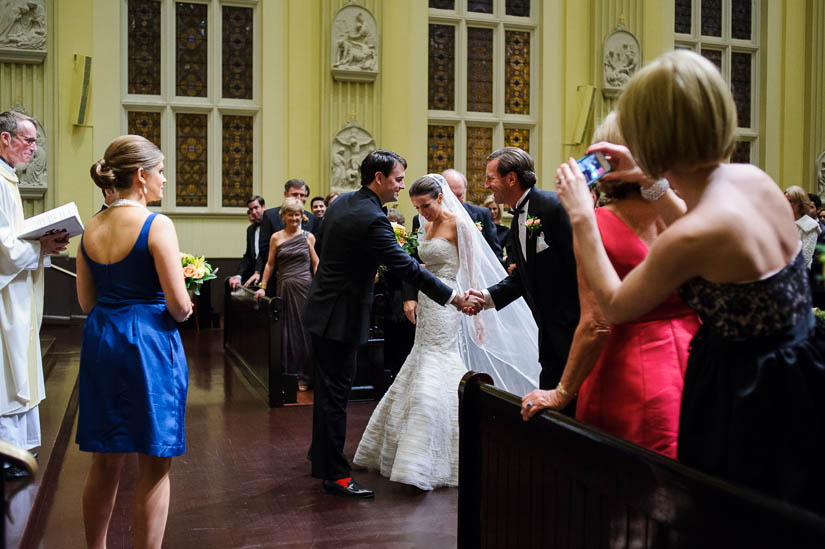 wedding at st. ignatius church in baltimore