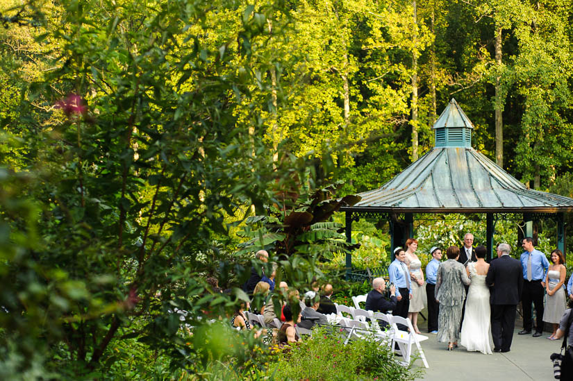 wedding images from brookside gardens ceremony