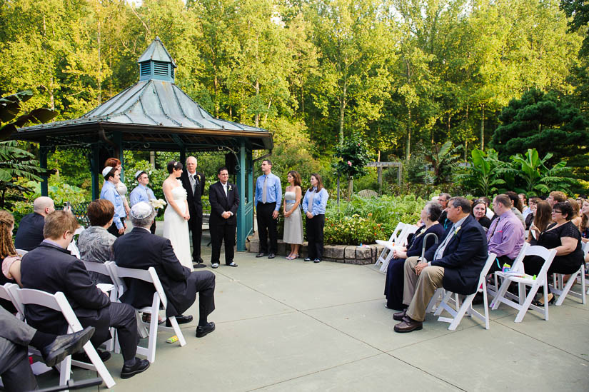 wedding ceremony at brookside gardens