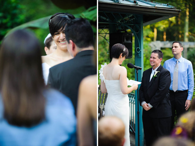 brookside gardens wedding ceremony photography