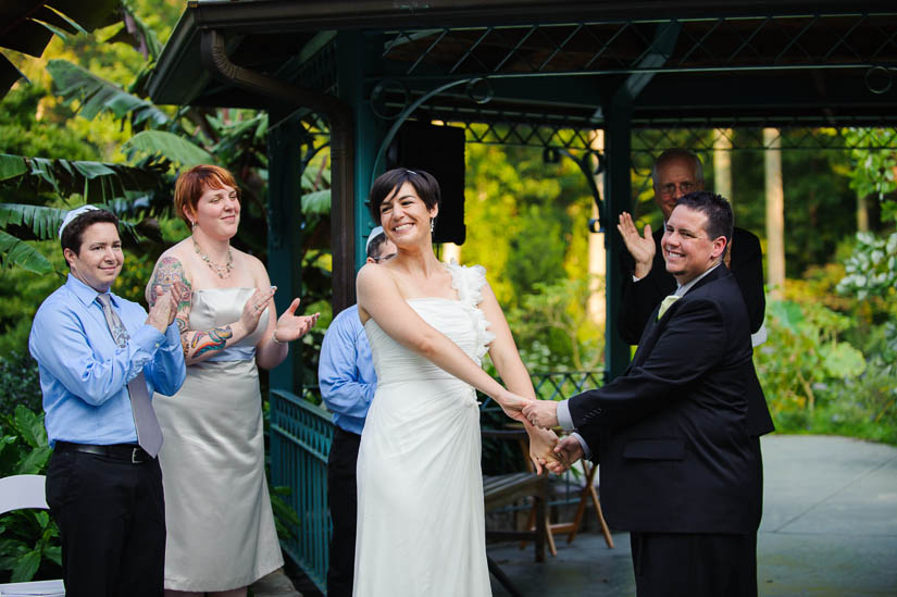 wedding ceremony at brookside gardens in silver spring