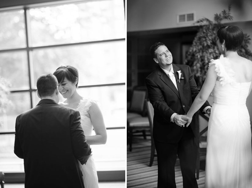 first look at brookside gardens wedding