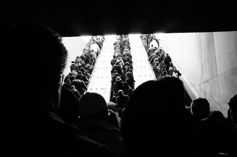 2013 inauguration on the metro