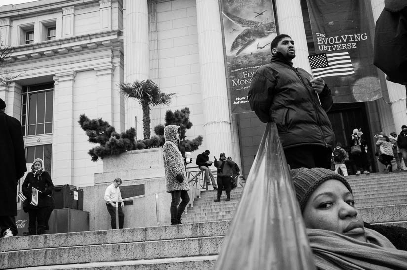 washington dc street photography during the inauguration