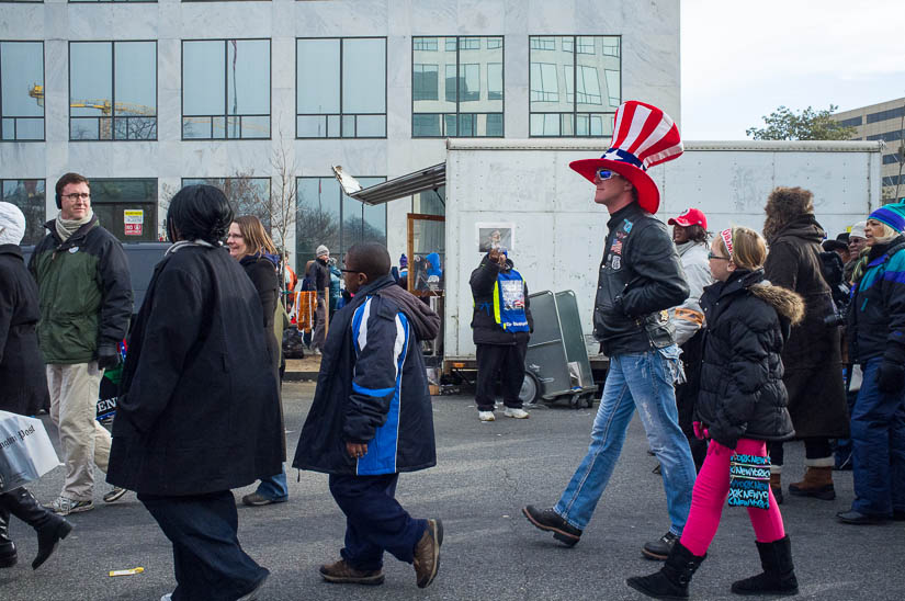 2013 inauguration - guy with a funny hat