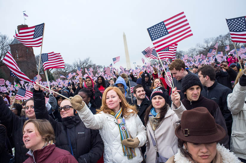 crowds gathered on the national mall for the 2013 inauguration
