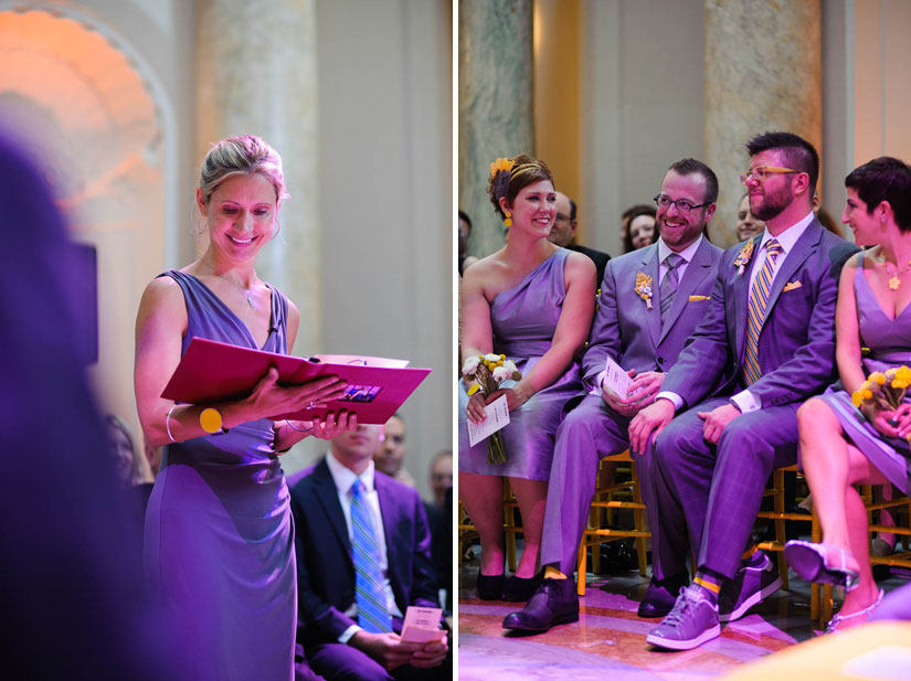 carnegie institution for science wedding with purple stage lighting