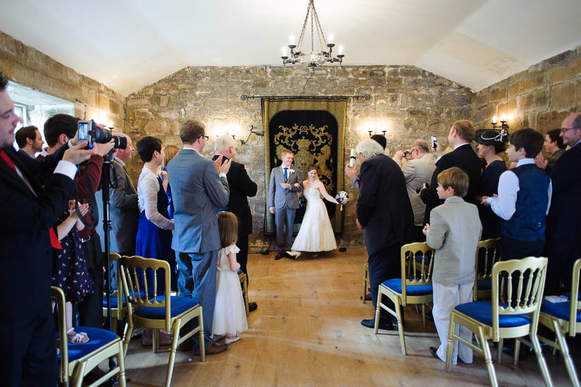 being introduced at danby castle wedding