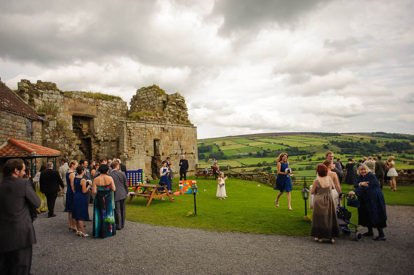 danby castle wedding scenery
