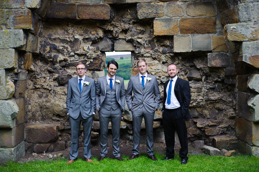 groomsmen at danby castle wedding