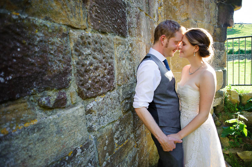 wedding portraits at danby castle