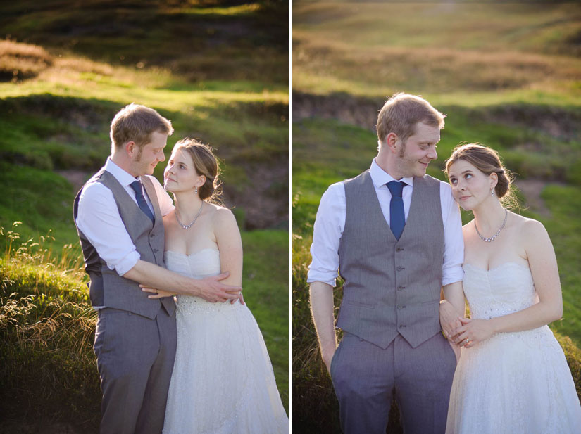 bride and groom portraits in north yorkshire, england