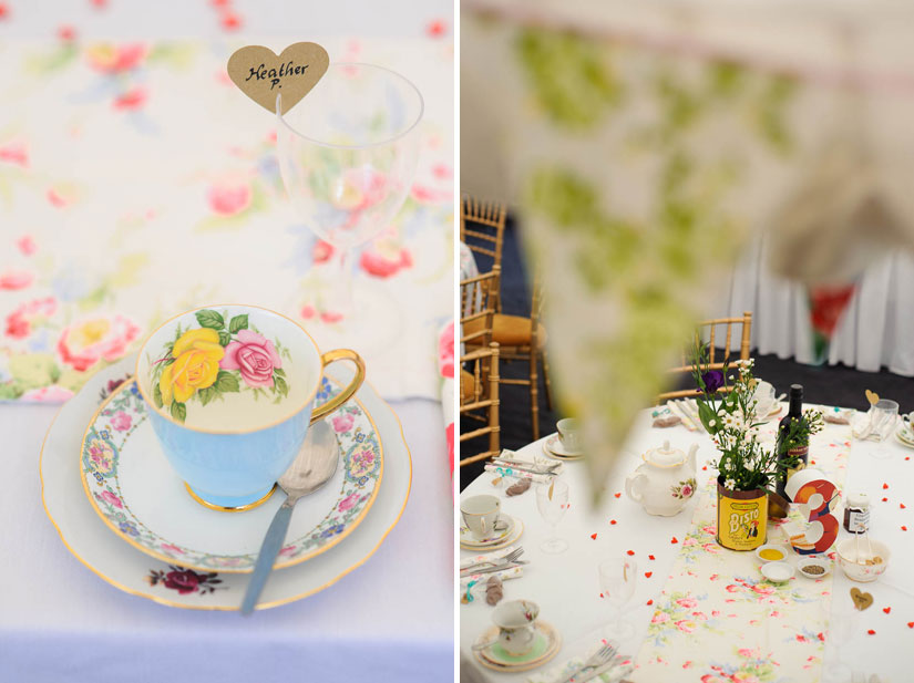 vintage tea party theme wedding