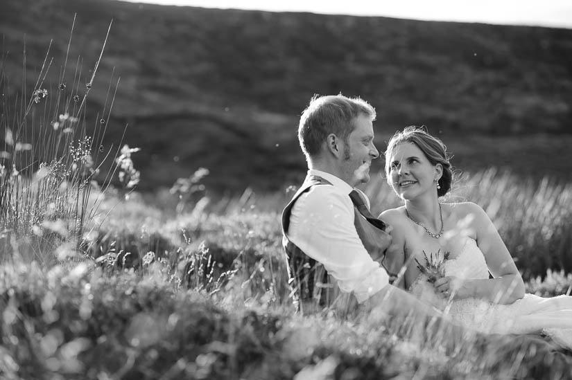relaxed wedding portraits in north yorkshire, england