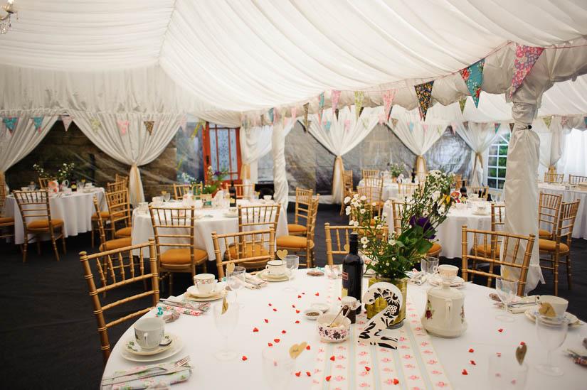 wedding with a vintage tea party theme