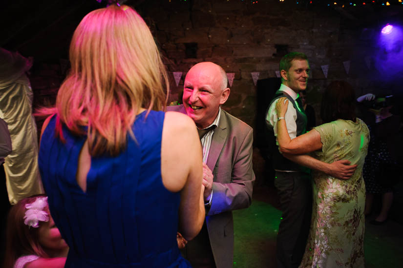 guests dancing at danby castle wedding