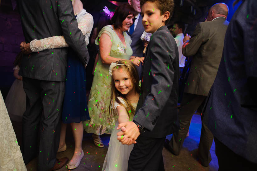 kids dancing at danby castle wedding reception