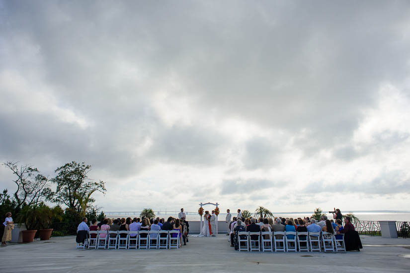 wedding ceremony at love point at kent island