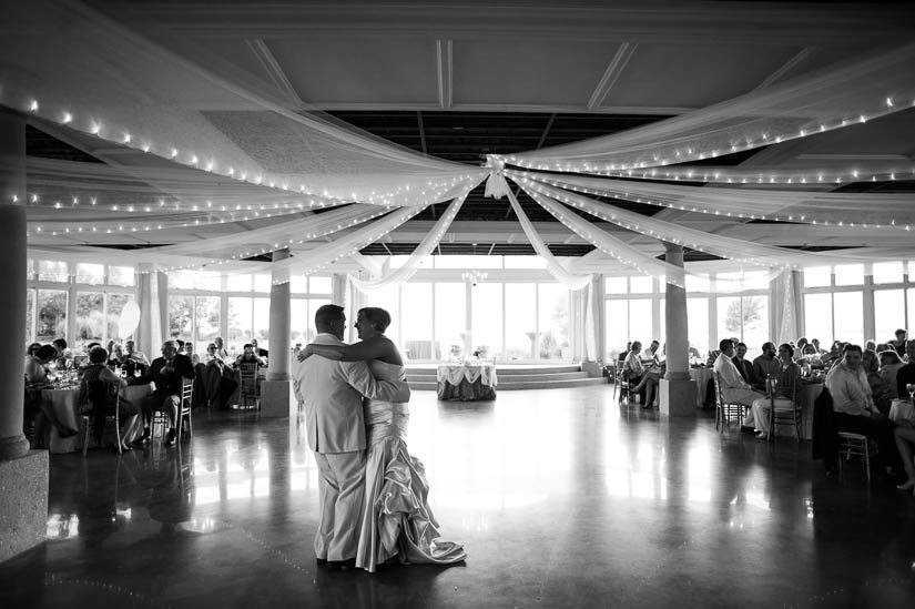 dancing at love point at kent island wedding