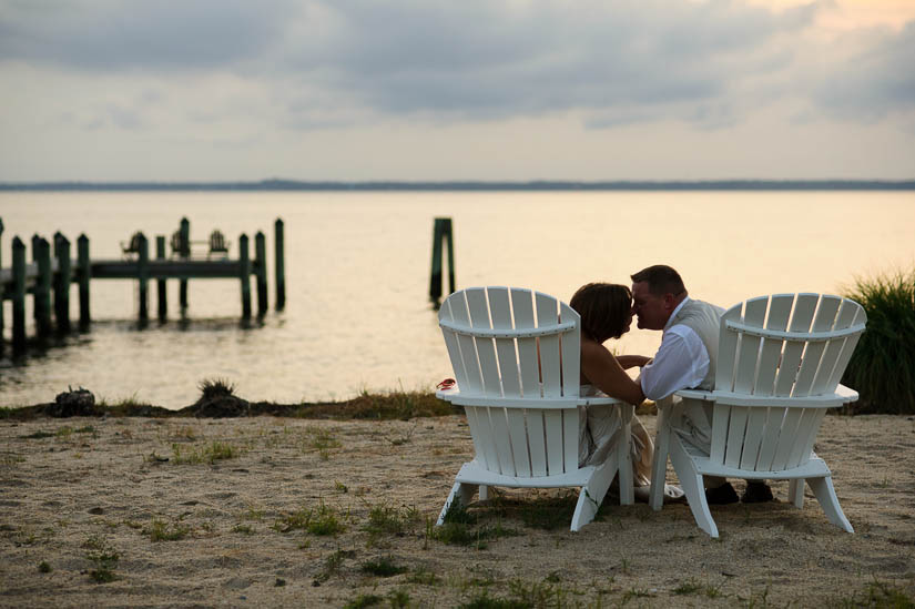 portraits on the beach at maryland eastern shore wedding
