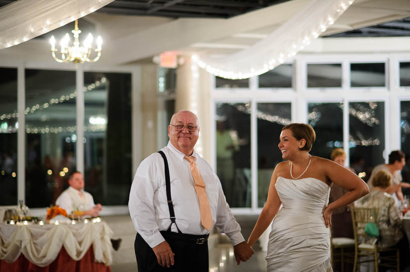 bride and her father at maryland eastern shore wedding