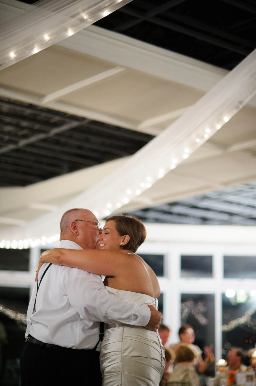 dancing with her father at love point wedding
