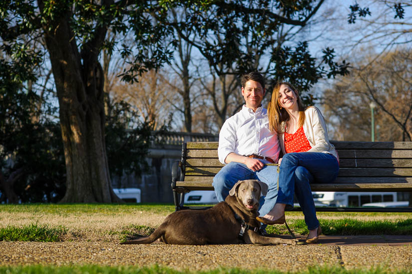 engagement photo shoot on the capitol grounds