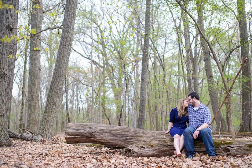 washington, dc woodsy engagement session