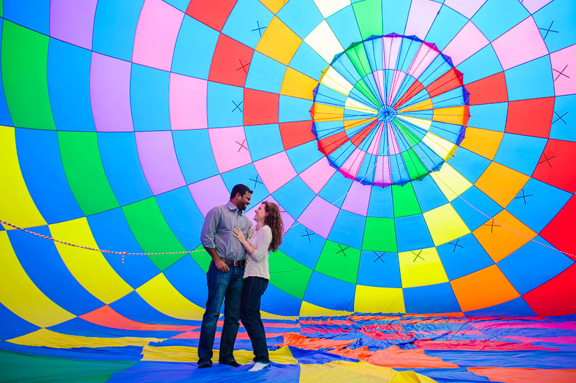 washington dc hot air balloon engagement photos