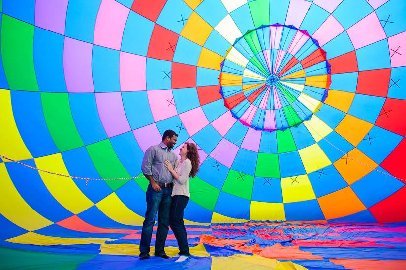 washington dc hot air balloon engagement photos