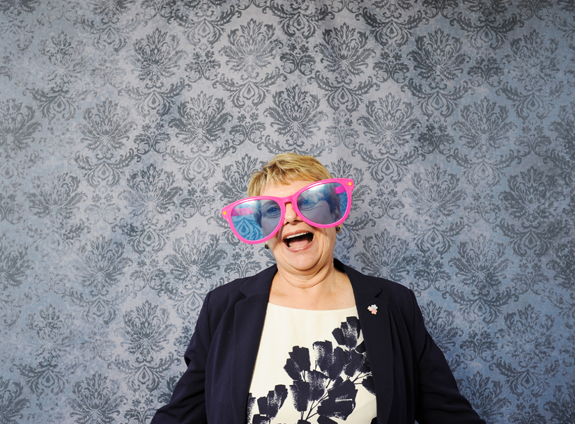 images from a wedding photobooth