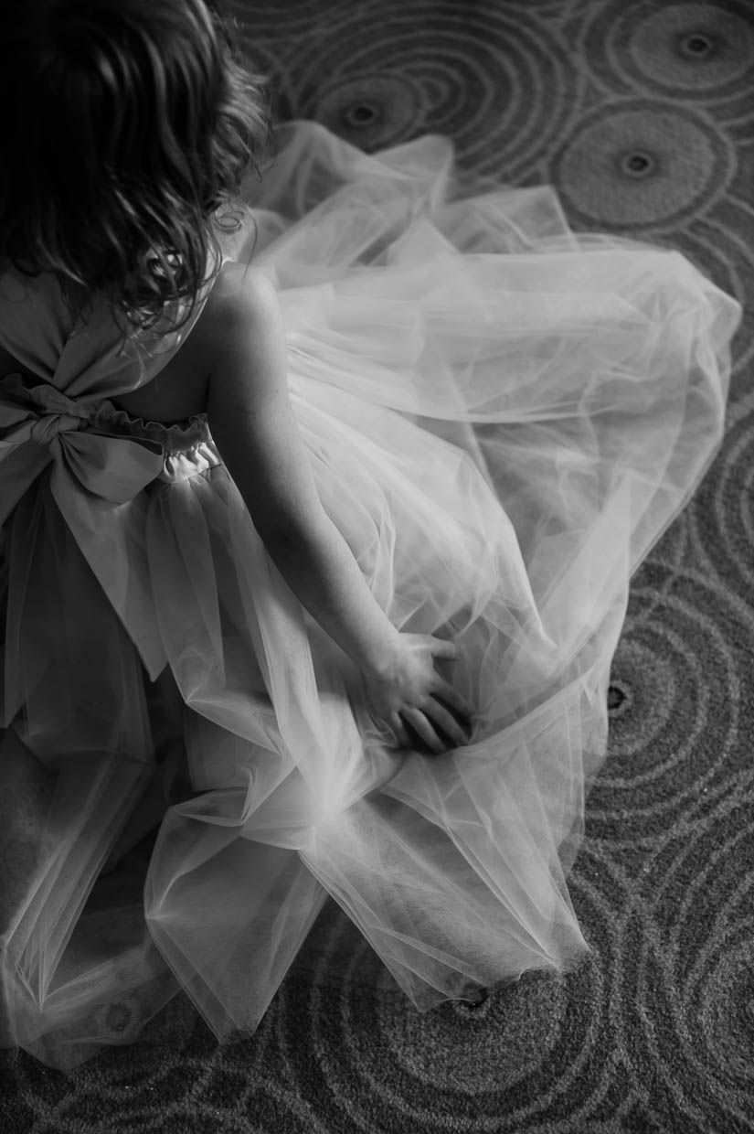 little girl at a wedding artistic