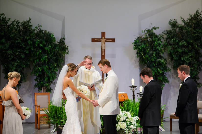 final prayer during Loyola Blakefield church wedding ceremony