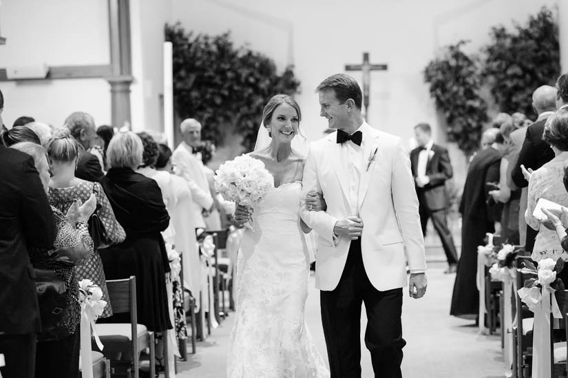 recessional from Loyola Blakefield church wedding