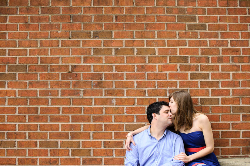 engagement photos with red brick in old town alexandria