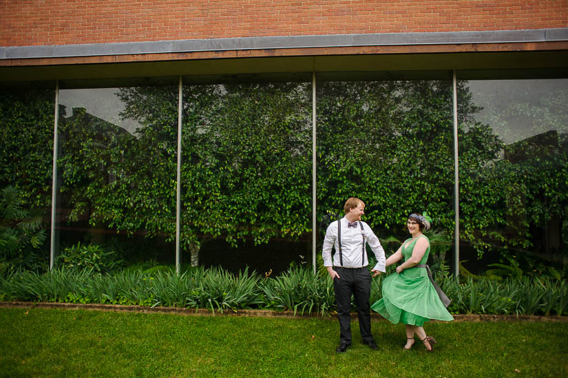 fun wedding photos on the campus of st johns college