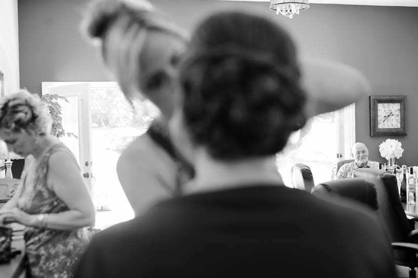 bridal prep at historic rosemont manor wedding
