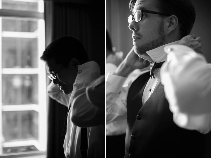gentlemen getting ready at Crowne Plaza Crystal City wedding