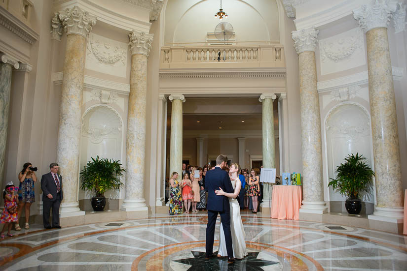 first dance epic wedding photography at carnegie institution for science