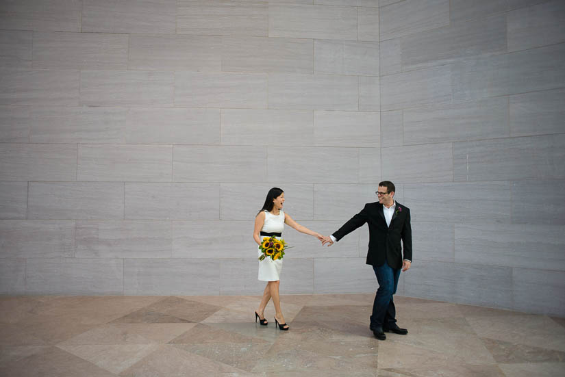 artistic wedding portraits at the national gallery of art