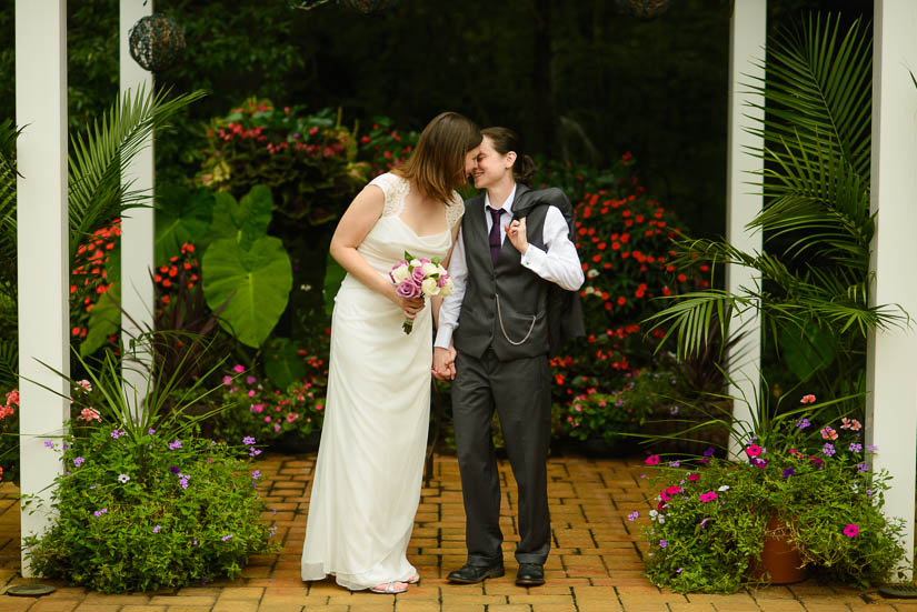 same-sex bridal portraits at annapolis wedding chapel